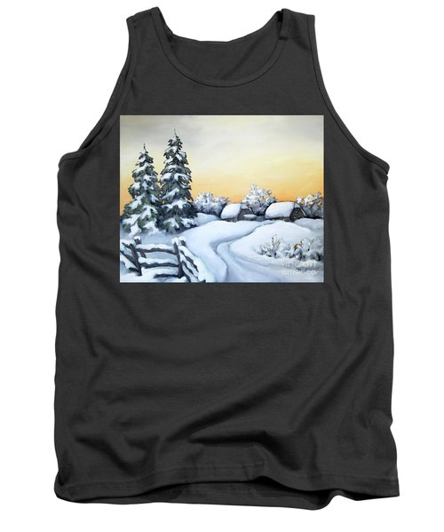 Winter Twilight Tank Top by Inese Poga