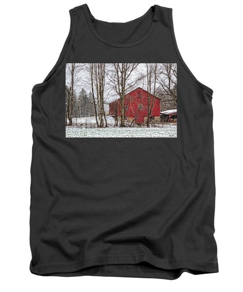 Wintry Barn Tank Top by Skip Tribby