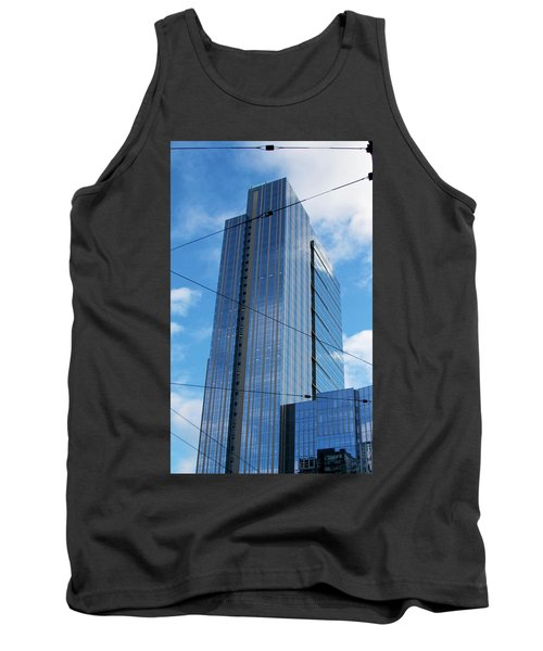 Tank Top featuring the photograph Wired In Seattle - Skyscraper Art Print by Jane Eleanor Nicholas