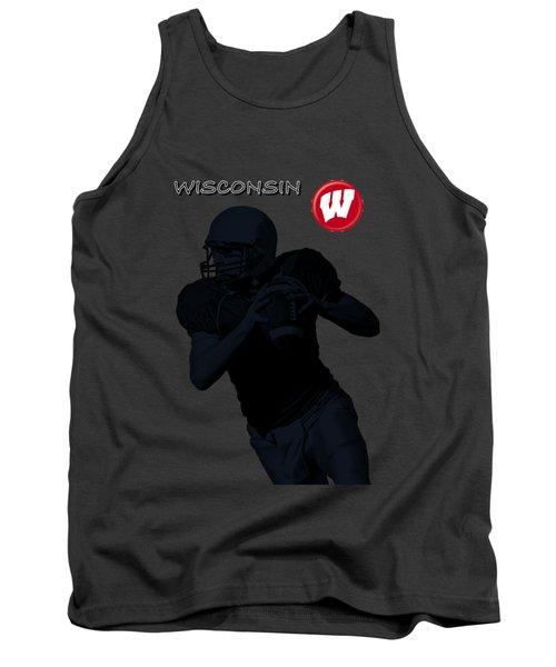 Wisconsin Football Tank Top by David Dehner