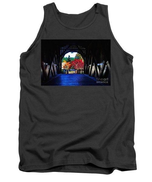 Within The Pass Creek Covered Bridge Tank Top by Ansel Price