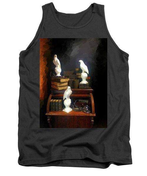 Wizards Library Tank Top by Enzie Shahmiri