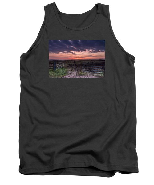 Wolds Sunset 2 Tank Top by David  Hollingworth