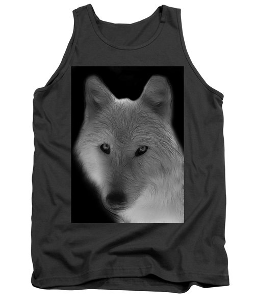 Wolf - Black And White Tank Top