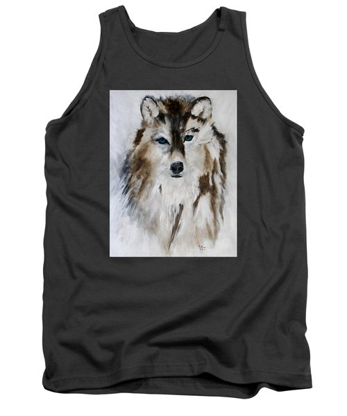 Wolf - Blue Star Tank Top by Barbie Batson