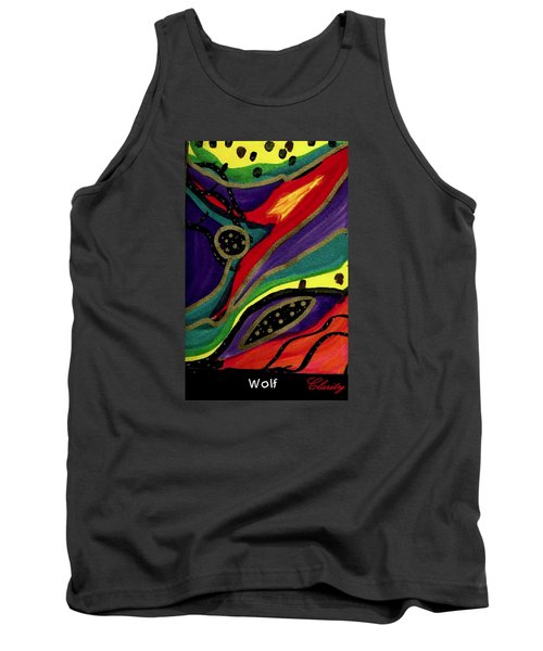 Tank Top featuring the painting Wolf by Clarity Artists