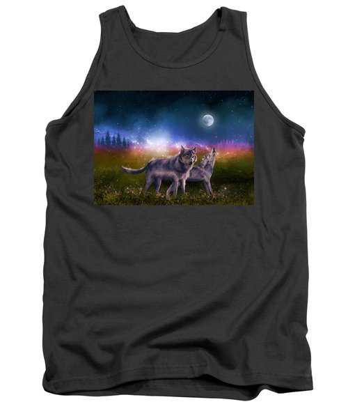 Wolf In The Moonlight Tank Top