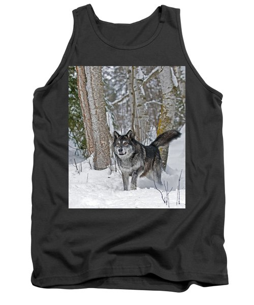 Wolf In Trees Tank Top