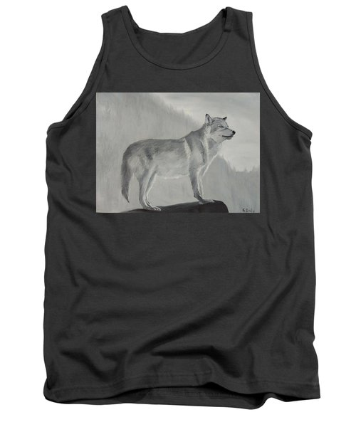 Tank Top featuring the painting Vantage Point by Kevin Daly
