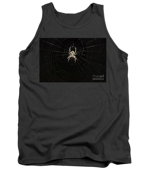 Tank Top featuring the photograph Wolf Spider And Web by Mark McReynolds