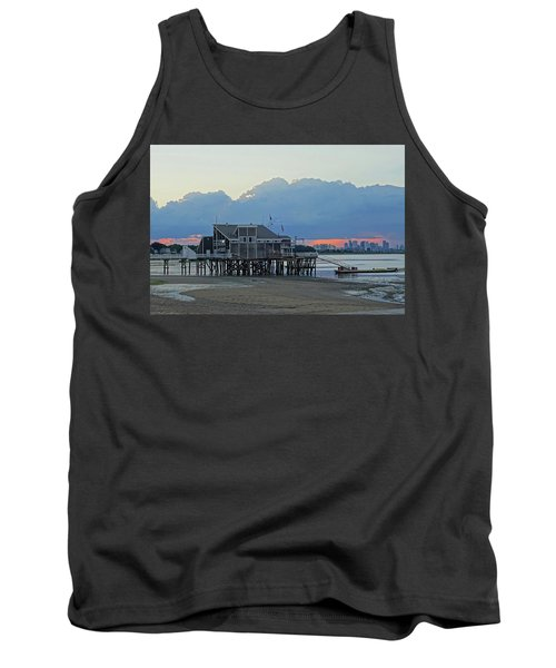 Wollaston Beach Quincy Ma Sunset Boston Skyline Quincy Ma Tank Top