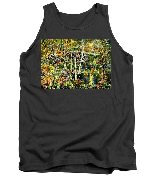Tank Top featuring the painting Wolven Moon by Alfred Motzer