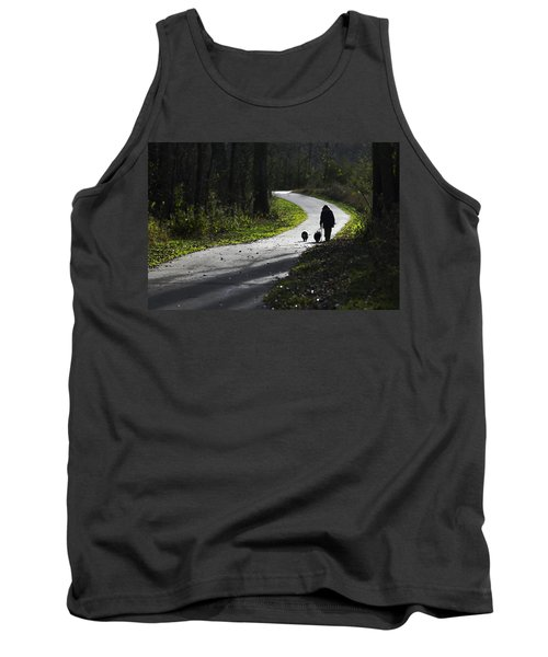 Woman And Border Collies Tank Top