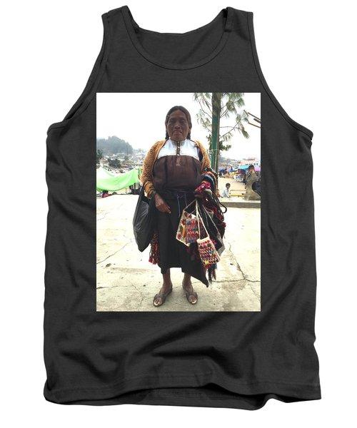 Woman In Chiapas. Tank Top by Shlomo Zangilevitch