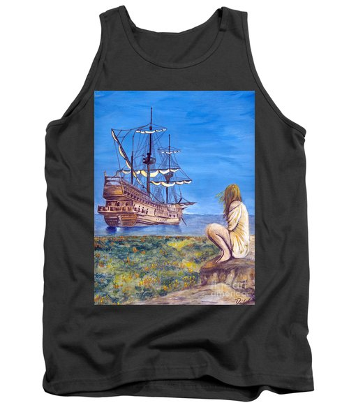 Woman With Spanish Ship Tank Top