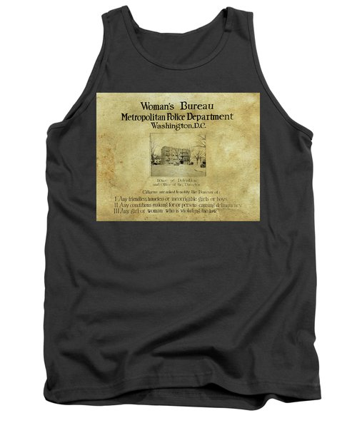 Women's Bureau House Of Detention Poster 1921 Tank Top