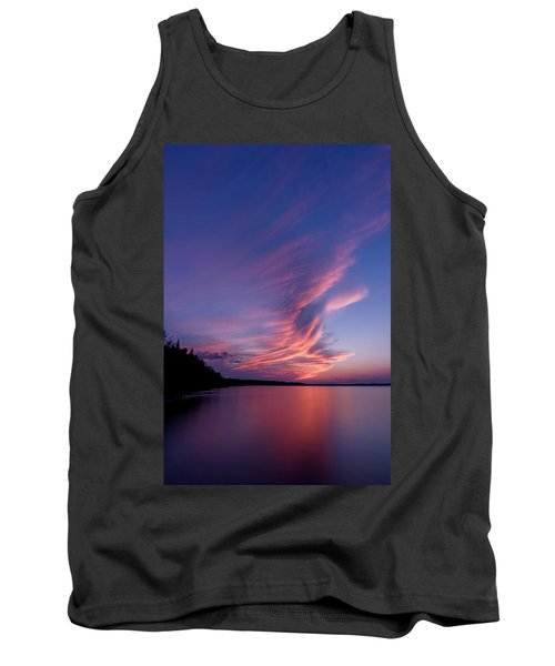 Tank Top featuring the photograph Wonderful Skeleton Lake Sunset by Darcy Michaelchuk