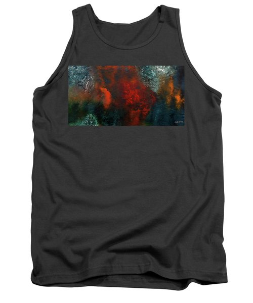 Tank Top featuring the painting Wonderland by Carmen Guedez