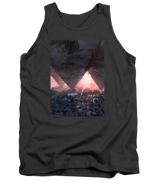 Tank Top featuring the digital art wonders great pyrimaid of Giza by Te Hu