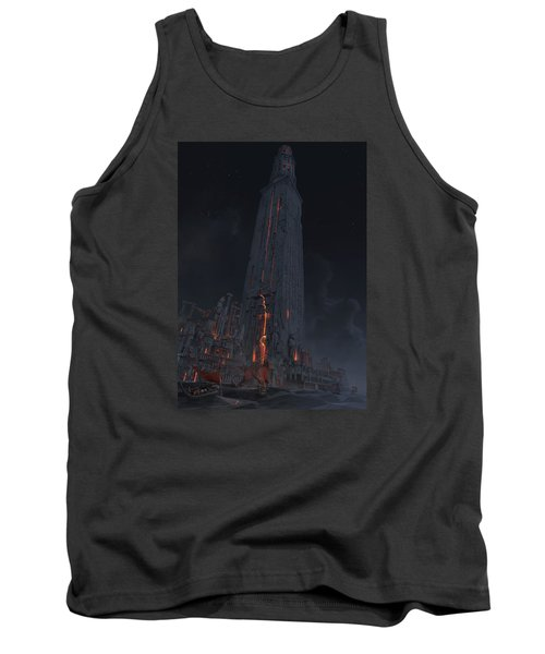 Tank Top featuring the digital art Wonders Lighthouse Of Alxendria by Te Hu