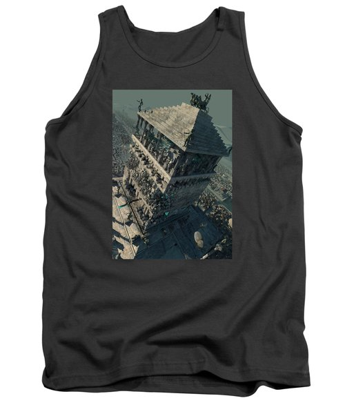 Tank Top featuring the digital art wonders Mausoleum at Halicarnassus by Te Hu