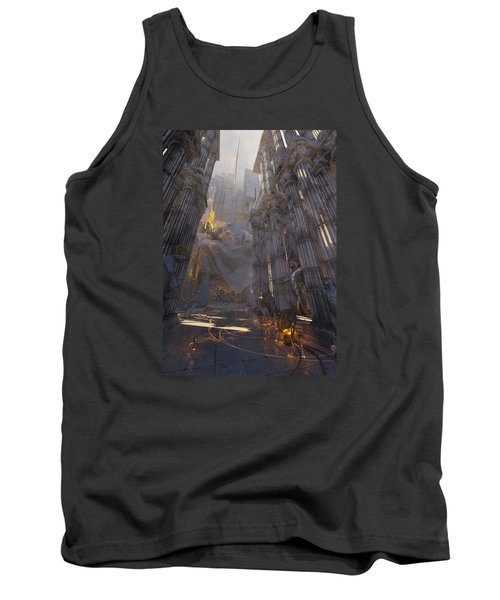 Tank Top featuring the digital art Wonders Temple Of Zeus by Te Hu