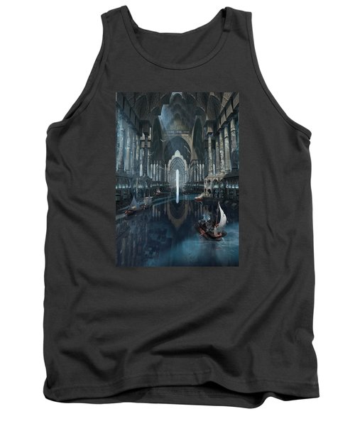 Tank Top featuring the digital art Wonders The Canal Of Isfahan by Te Hu