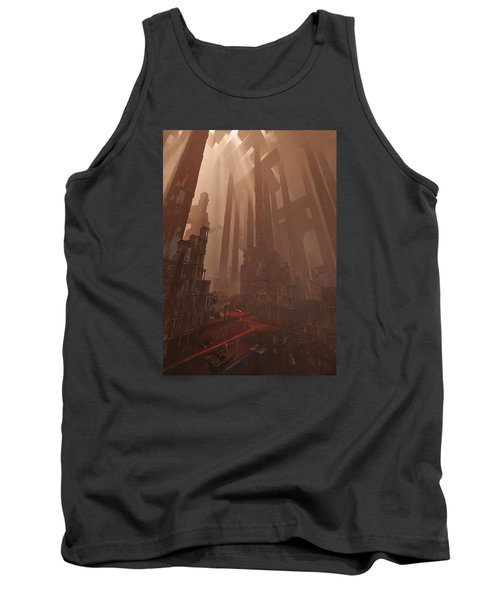 Tank Top featuring the digital art Wonders_temple Of Artmeis by Te Hu