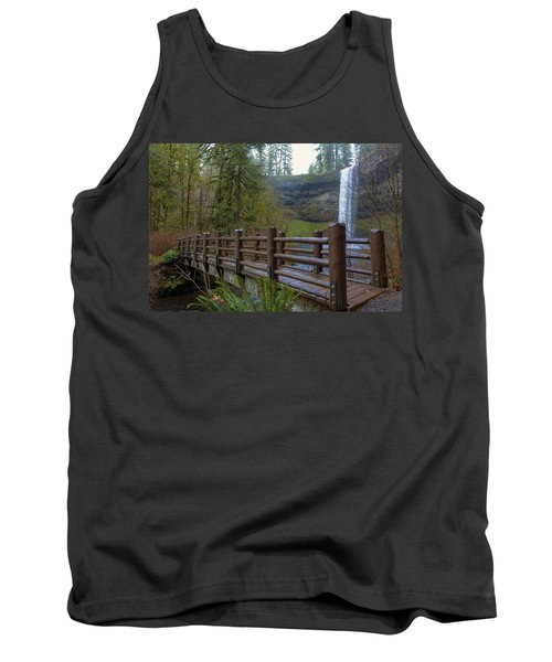 Wood Bridge At Silver Falls State Park Tank Top