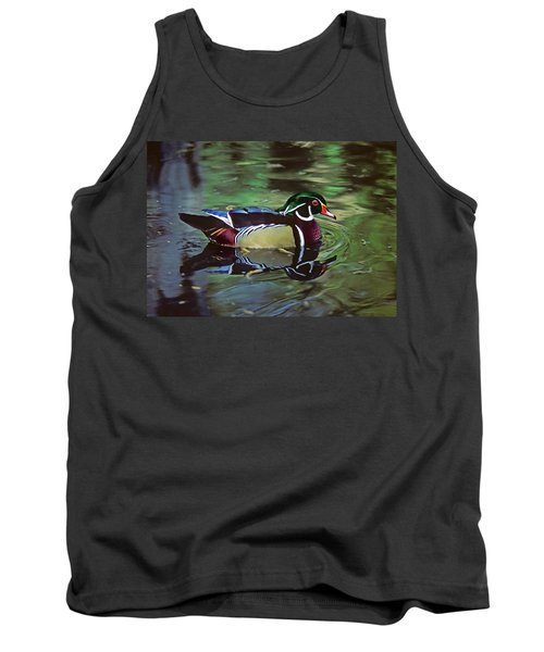 Tank Top featuring the photograph Wood Duck by Marie Hicks