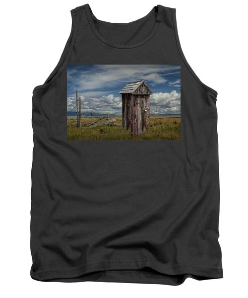 Wood Outhouse Out West Tank Top by Randall Nyhof