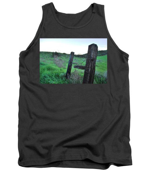 Tank Top featuring the photograph Wooden Gate In Field by Matt Harang