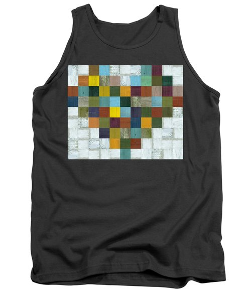 Tank Top featuring the digital art Wooden Heart by Michelle Calkins