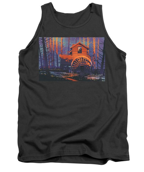 Wooden House Tank Top