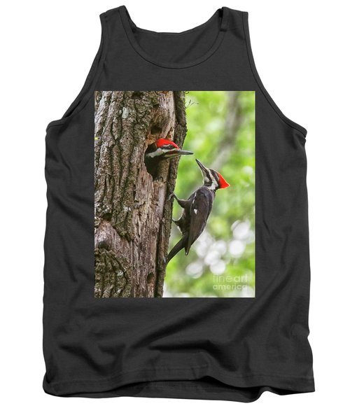 Woodpeckers Trading Places Tank Top by Myrna Bradshaw