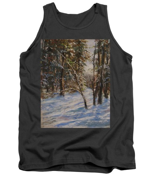 Tank Top featuring the pastel Woods And Snow At Two Below by Jack Skinner