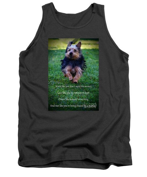 Words To Live By Tank Top by Clare Bevan