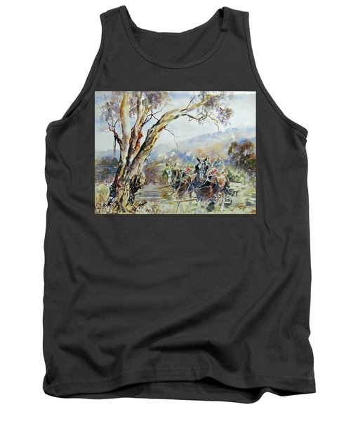 Working Clydesdale Pair, Australian Landscape. Tank Top