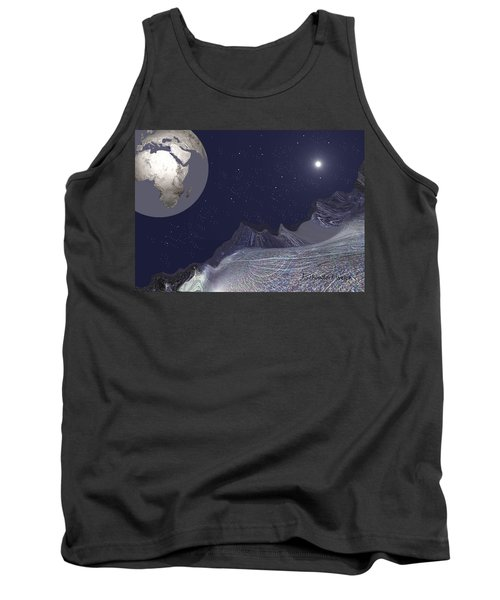Tank Top featuring the digital art 1657 - Worlds - 2017 by Irmgard Schoendorf Welch