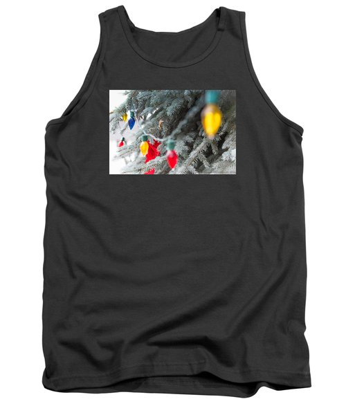 Tank Top featuring the photograph Wrap A Tree In Color by Lora Lee Chapman