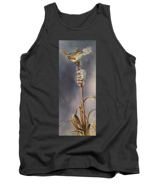 Wren And Cattails Tank Top