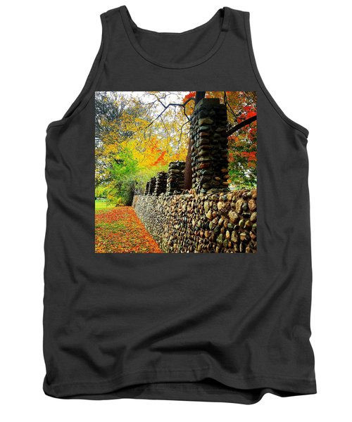 Wright Park Stone Wall In Fall Tank Top