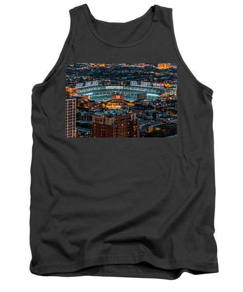 Wrigley Field From Park Place Towers Dsc4678 Tank Top by Raymond Kunst