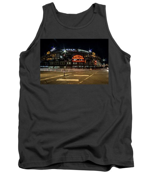 Wrigley Field Marquee At Night Tank Top