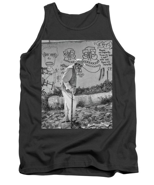 Writing On The Wall Tank Top by Patricia Schaefer
