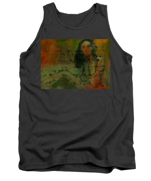 Tank Top featuring the painting Written Out by Jim Vance