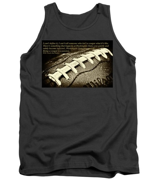 Wsu Cougar Quote Tank Top by David Patterson