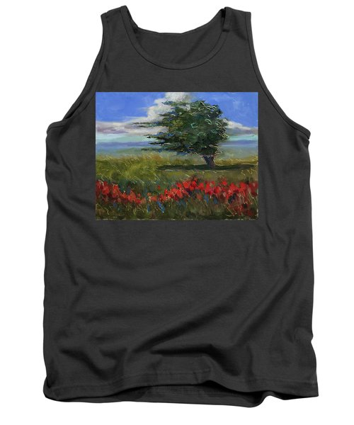 Tank Top featuring the painting Wyoming Gentle Breeze by Billie Colson