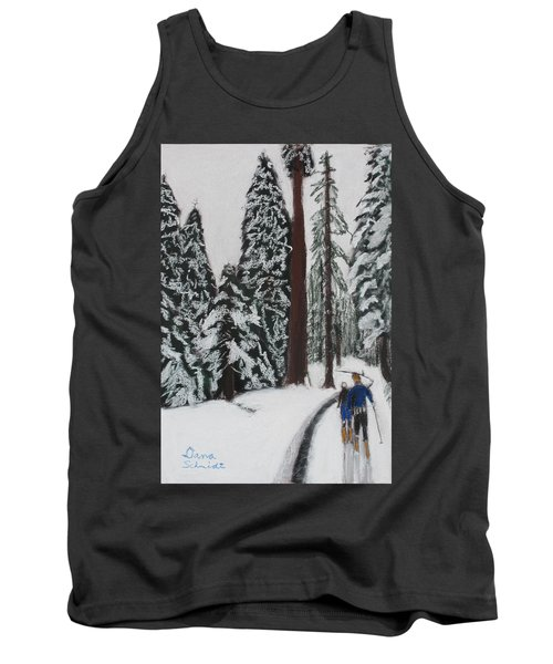 X-c Skiing In The Ca Redwoods 14 Years Ago Tank Top