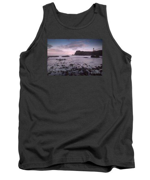 Yaquina Head Lighthouse Tank Top by Keith Kapple